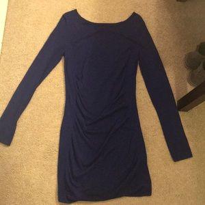 Express sweater dress royal blue